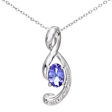 Load image into Gallery viewer, 9ct White Gold Tanzanite Music Note Pendant with Diamond