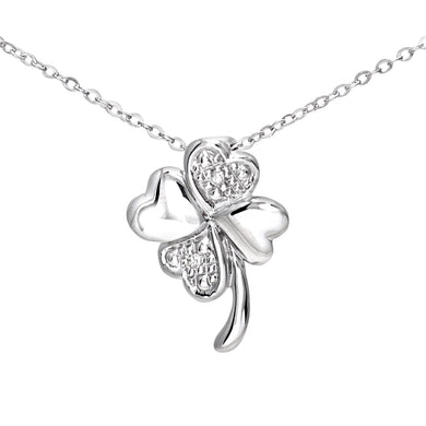 9ct White Gold Pave Set Diamond Flower Pendant and 18
