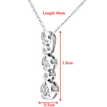 Load image into Gallery viewer, 9ct White Gold 0.25ct 5-Stone Diamond Pendant and Chain of 46cm