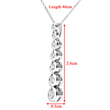 Load image into Gallery viewer, 9ct White Gold 0.33ct Graduated Diamond Pendant and Chain of 46cm