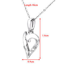 Load image into Gallery viewer, 9ct White Gold Diamond Heart Pendant and Chain of 46cm
