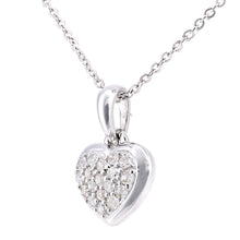 Load image into Gallery viewer, 9ct White Gold Diamond Heart Pendant Necklace of Length 46cm