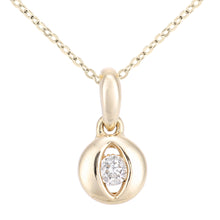 Load image into Gallery viewer, 9ct Yellow Gold Diamond Eye Pendant Necklace of Length 46cm