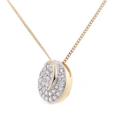 Load image into Gallery viewer, 18ct Yellow Gold Diamond Circle Cluster Design Pendant Necklace of Length 46cm