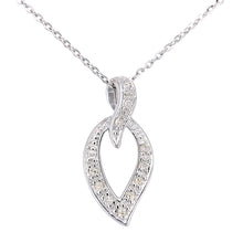 Load image into Gallery viewer, 9ct White Gold Diamond Teardrop Pendant and Chain of Length 46cm