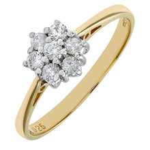 Load image into Gallery viewer, 18ct Yellow Gold Ladies 25pt Diamond Ring