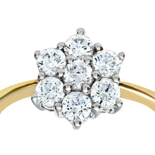 Load image into Gallery viewer, 9ct Yellow Gold Cubic Zirconia Cluster Ladies Ring