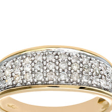 Load image into Gallery viewer, 9ct Yellow Gold Quarter Carat Diamond Multi Row Eternity Ring