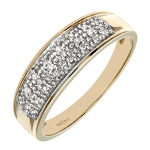 Load image into Gallery viewer, 9ct Yellow Gold 0.10ct Diamond Multi Row Eternity Ring