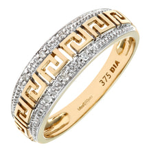 Load image into Gallery viewer, 9ct Yellow Gold Diamond Ladies Dress Ring