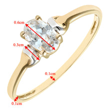 Load image into Gallery viewer, 9ct Yellow and White Gold Ladies Cubic Zirconia Birth Stone Ring