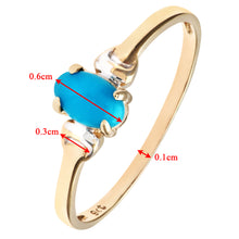 Load image into Gallery viewer, 9ct Yellow and White Gold Ladies Turquoise Birth Stone Ring