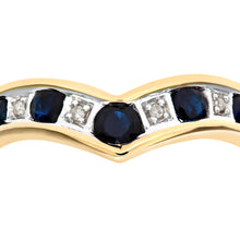 Load image into Gallery viewer, 9ct Yellow Gold Ladies Diamond and Sapphire Ring