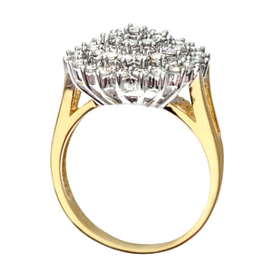 18ct Yellow Gold Ladies Diamond Ring