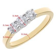 Load image into Gallery viewer, Trilogy Ring, 18ct Yellow Gold IJ/I Round Brilliant Certified Diamond Ring, 0.50ct Diamond Weight