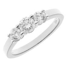 Load image into Gallery viewer, 18ct White Gold Trilogy 0.75ct Diamond Ring in Claw Setting