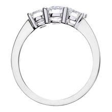 Load image into Gallery viewer, Trilogy Ring, 18ct White Gold IJ/I Round Brilliant Certified Diamond Ring, 1.00ct Diamond Weight