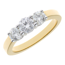 Load image into Gallery viewer, 18ct Yellow Gold Trilogy 1.00ct Diamond Ring in Claw Setting