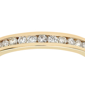 9ct Yellow Gold Diamond Channel Set Eternity Ladies Ring