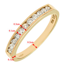 Load image into Gallery viewer, 9ct Yellow Gold Diamond Channel Set Eternity Ladies Ring