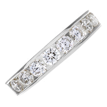 Load image into Gallery viewer, 18ct White Gold 1ct Certified HS/I Diamond Channel Set Half Eternity Ring