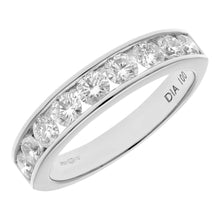 Load image into Gallery viewer, 18ct White Gold 1ct Certified IJ/I Diamond Channel Set Half Eternity Ring