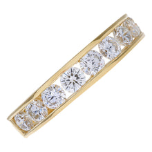 Load image into Gallery viewer, 18ct Yellow Gold 1ct Certified IJ/I Diamond Channel Set Half Eternity Ring