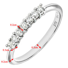Load image into Gallery viewer, 9ct White Gold Quarter Carat Diamond Claw Set Eternity Ring