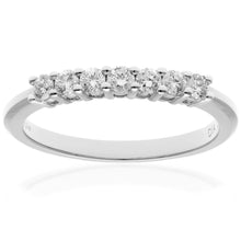 Load image into Gallery viewer, 18ct White Gold 0.33ct Certified HS/I Diamond Claw Set Half Eternity Ring