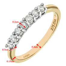 Load image into Gallery viewer, 9ct Yellow Gold Diamond Eternity Ladies Ring
