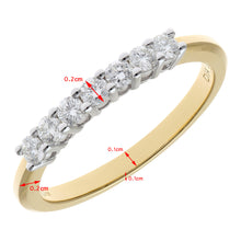Load image into Gallery viewer, 18ct Yellow Gold 0.33ct Certified HS/I Diamond Claw Set Half Eternity Ring