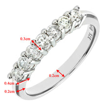 Load image into Gallery viewer, 9ct White Gold Diamond Eternity Ladies Ring