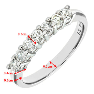 9ct White Gold Diamond Eternity Ladies Ring