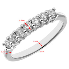 Load image into Gallery viewer, Eternity Ring, 18ct White Gold H/SI Round Brilliant Certified Diamond Ring, 0.50ct Diamond Weight