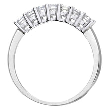 Load image into Gallery viewer, Eternity Ring, 18ct White Gold IJ/I Round Brilliant Certified Diamond Ring, 0.50ct Diamond Weight