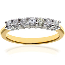 Load image into Gallery viewer, Eternity Ring, 18ct Yellow Gold H/SI Round Brilliant Certified Diamond Ring, 0.50ct Diamond Weight