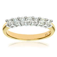 Load image into Gallery viewer, 9ct Yellow Gold Half Carat Diamond Claw Set Eternity Ring