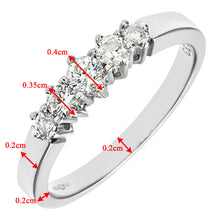 Load image into Gallery viewer, 9ct White Gold 0.33ct Diamond Graduated Eternity Ring