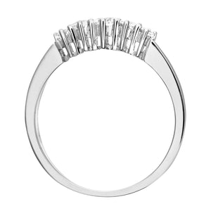 9ct White Gold 0.33ct Diamond Graduated Eternity Ring