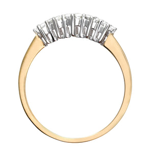 9ct Yellow Gold 0.50ct Diamond Graduated Eternity Ring