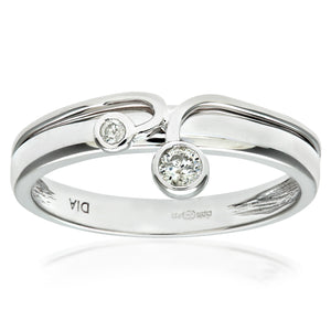Ladies 9ct White Gold Fancy Diamond Ring