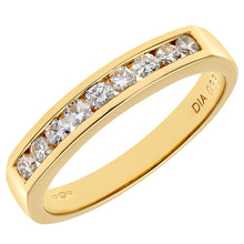 Load image into Gallery viewer, 18ct Yellow Gold Certified 0.33ct HS/I Diamond Channel Set Half Eternity Ring