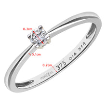 Load image into Gallery viewer, Engagement Ring, 9ct White Gold IJ/I Round Brilliant Diamond Ring, 0.10ct Diamond Weight