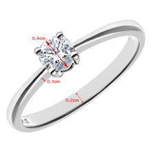 Load image into Gallery viewer, Engagement Ring, 18ct White Gold H/SI Round Brilliant Certified Diamond Ring, 0.25ct Diamond Weight