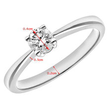 Load image into Gallery viewer, Engagement Ring, 18ct White Gold IJ/I Round Brilliant Certified Diamond Ring, 0.33ct Diamond Weight