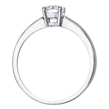 Load image into Gallery viewer, Engagement Ring, 18ct White Gold H/SI Round Brilliant Certified Diamond Ring, 0.50ct Diamond Weight