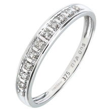 Load image into Gallery viewer, 9ct White Gold Diamond Pave Set Eternity Ring