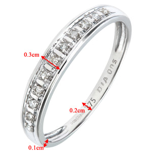 9ct White Gold Diamond Pave Set Eternity Ring