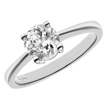 Load image into Gallery viewer, Engagement Ring, 18ct White Gold H/SI Round Brilliant Certified Diamond Ring, 1.00ct Diamond Weight