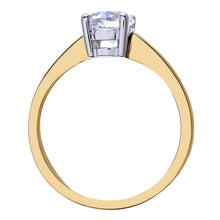 Load image into Gallery viewer, Engagement Ring, 18ct Yellow Gold H/SI Round Brilliant Certified Diamond Ring, 1.00ct Diamond Weight